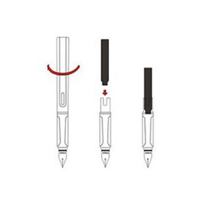 วิธีเติมหมึกแบบเปลี่ยน ปากกาหมึกซึม ทรงลามี่ หัวแร้ง รุ่น PEN 037